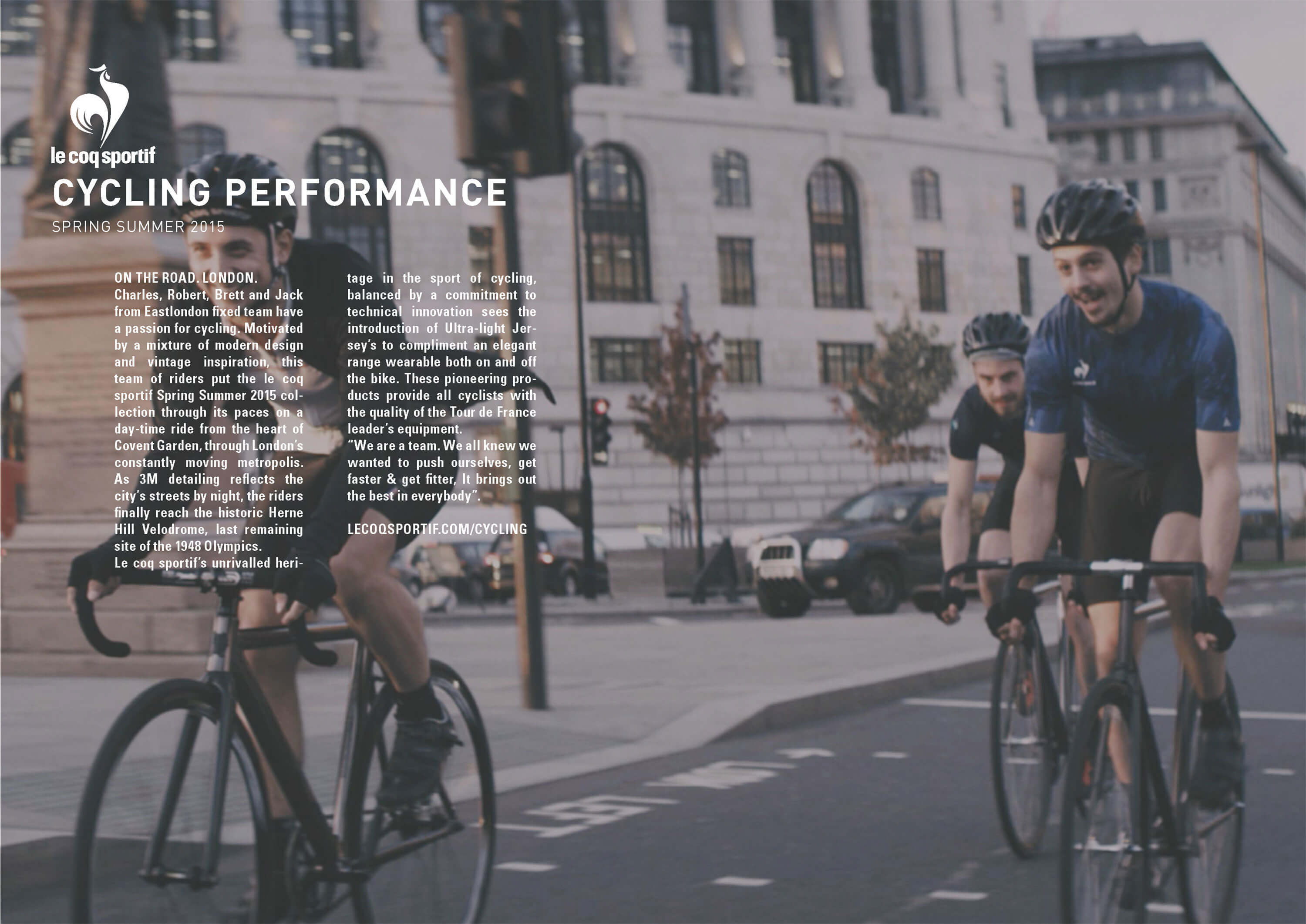 Tack Studio Creative Agency Le Coq Sportif Campaign Cycling Photoshoot lookbook london 01