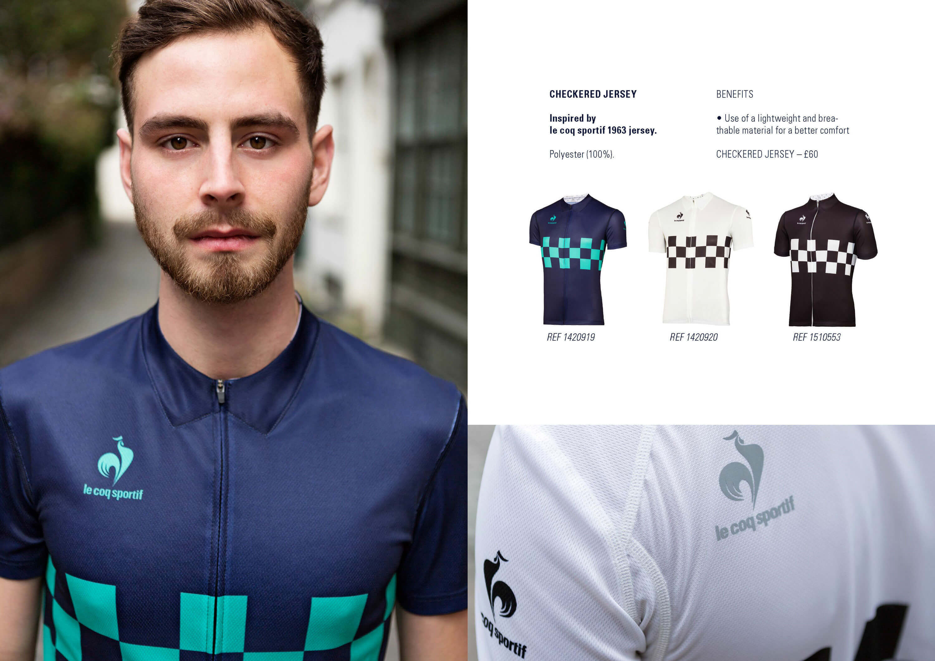 Tack Studio Creative Agency Le Coq Sportif Campaign Cycling Photoshoot lookbook london 03