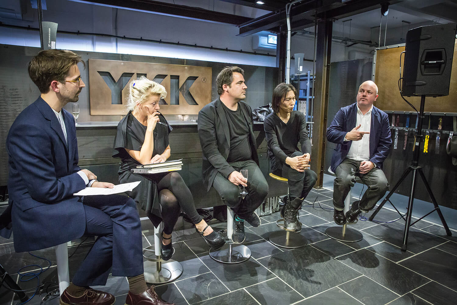 Zowie Broach, Sam Jacob, Kei Kagami and Alistair O'Neill join Disegno magazine's Oli Stratford for the panel discussion at YKK.
